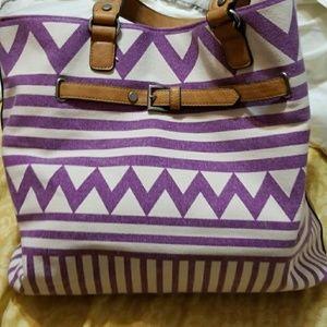 Purple designed bag